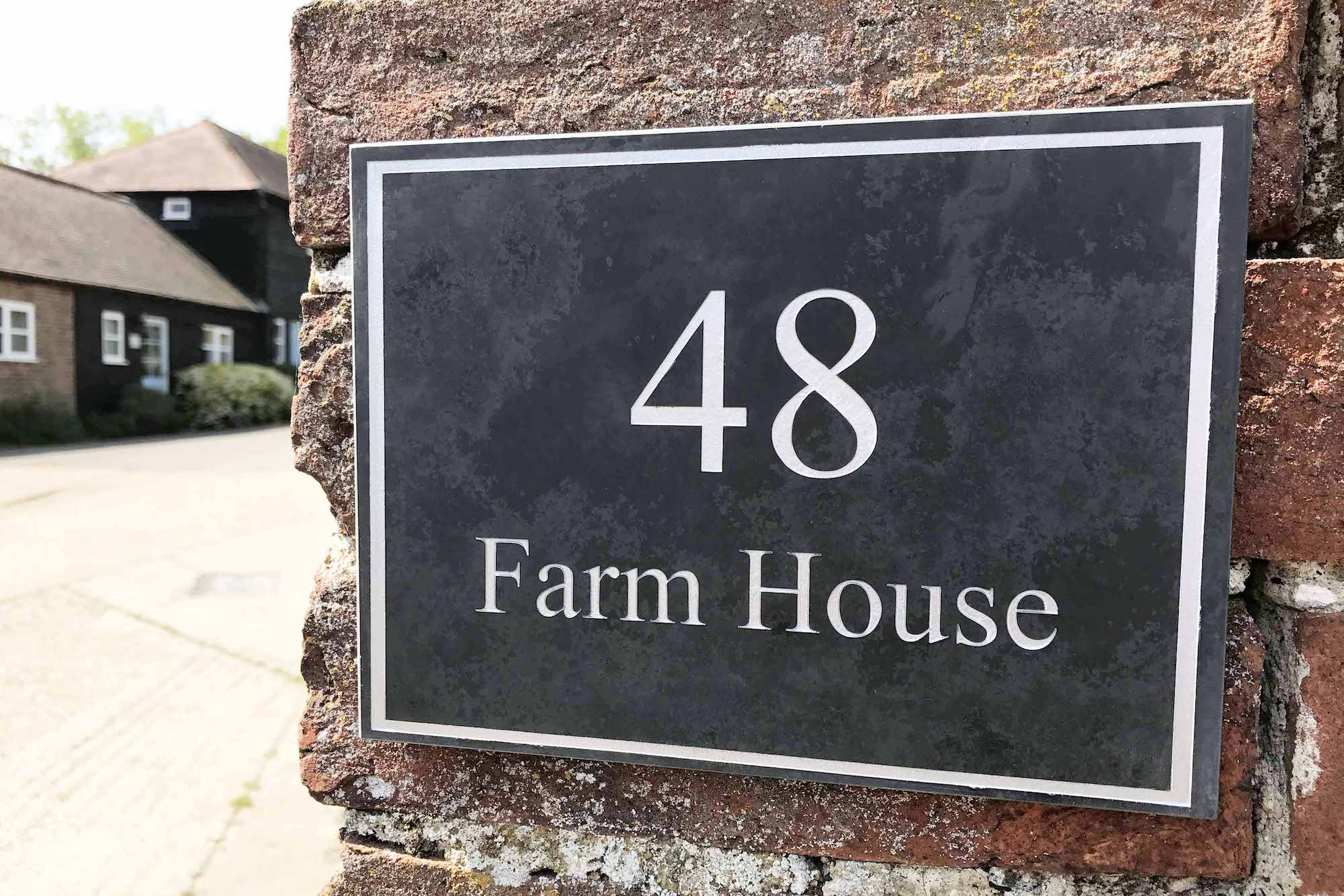 Surprising Engraved Slate House Signs By Design A House Sign Download Free Architecture Designs Boapuretrmadebymaigaardcom